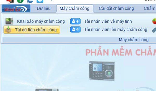 chuc nang tai du lieu may cham cong