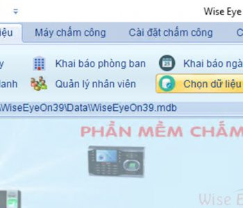 chon co so du lieu tren phan mem wiseeye on39