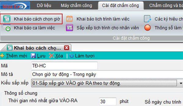 khai bao cach chon gio tren wise eye on39