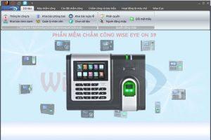 máy chấm công x628c kết hợp với phần mềm wise eye on 39