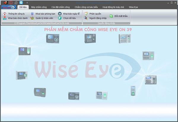 Máy chấm công sử dụng wise eye on 39